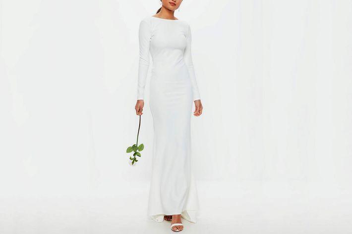 Missguided wedding dress.