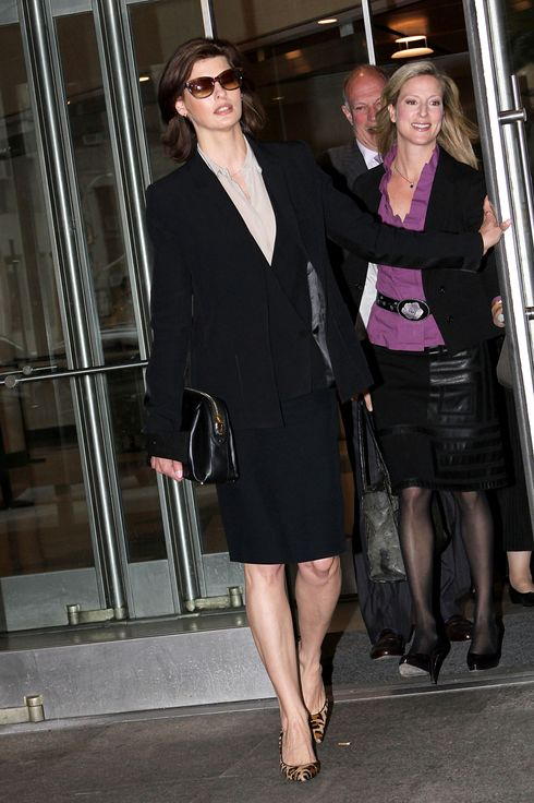 NEW YORK, NY - MAY 08:  Linda Evangelista appears at Manhattan Family Court