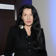 PARK CITY, UT - JANUARY 23:  Performance artist Marina Abramovic attends Grey Goose Iconoclast Sixth Season Launch - Panel Discussion Cocktail Party at Grey Goose Blue Door on January 23, 2012 in Park City, Utah.  (Photo by Jamie McCarthy/Getty Images for Grey Goose)