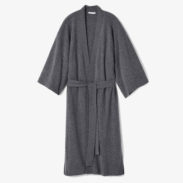 Eileen Fisher Brushed-Cashmere Robe