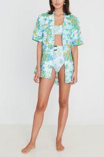 Faithfull The Brand Charlita Shirt Dress Gardone Floral Print