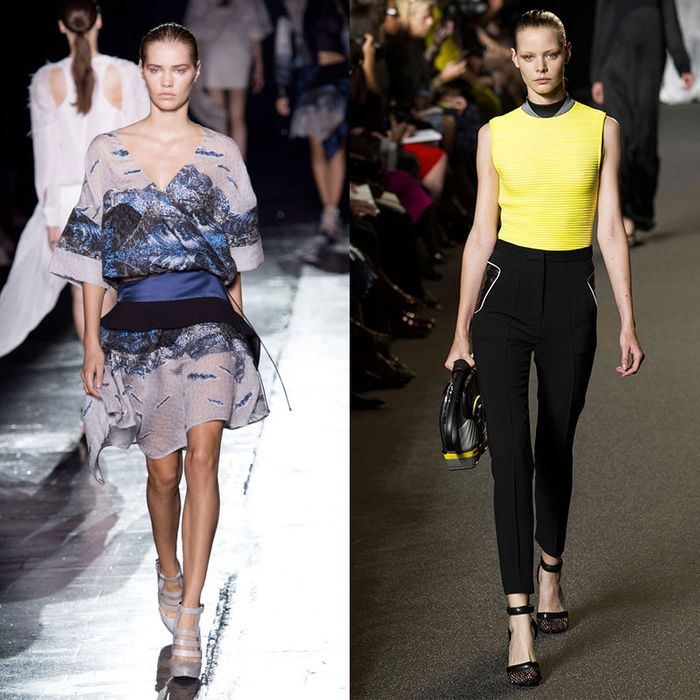 Looks from Altuzarra, Prabal Gurung, and Alexander Wang