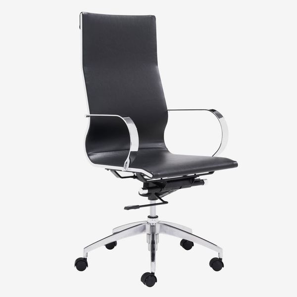 Glider Hi Back Office Chair, Black, Monthly Rental