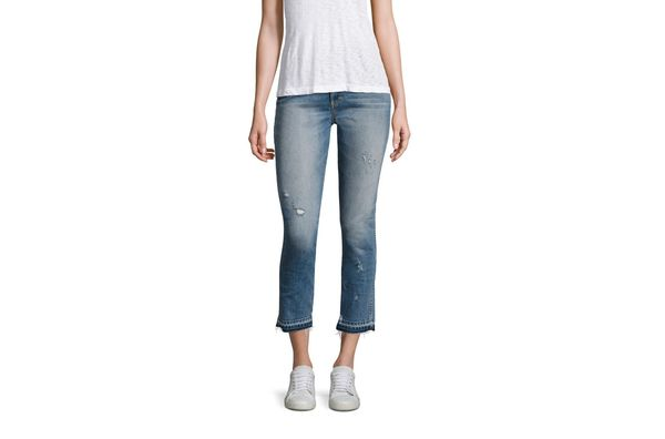 AMO Babe High-Rise Distressed Straight Jeans