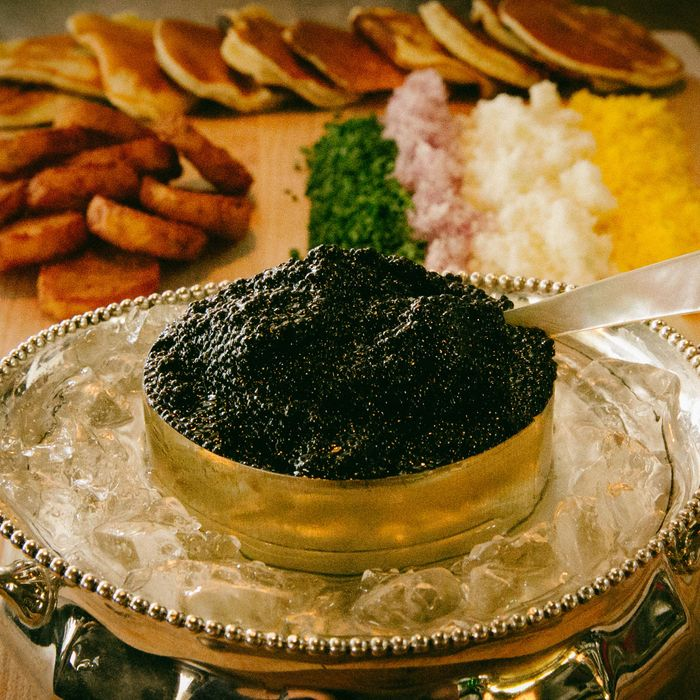Jeffrey's Grocery sells caviar at cost.