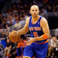Jason Kidd #5 of the New York Knicks drives toward the basket during the game against the Orlando Magic at Amway Center on January 5, 2013 in Orlando, Florida.