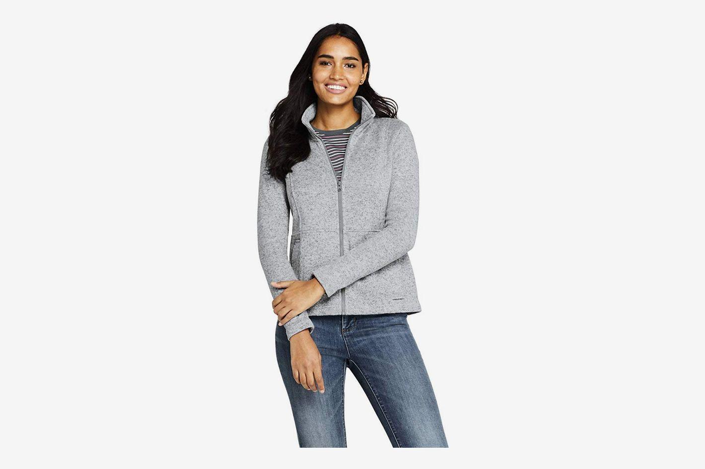 Lands' End Women's Sweater Fleece Jacket