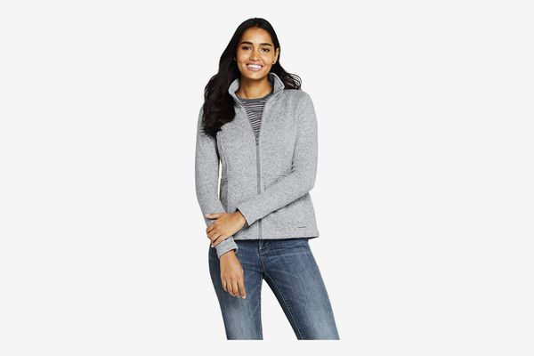 Lands' End Women's Sweater Fleece Jacket