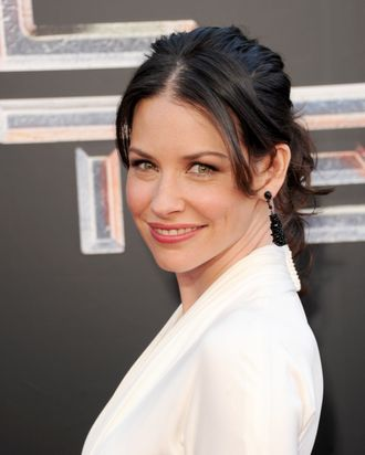 Actress Evangeline Lilly arrives at the premiere of DreamWorks Pictures'