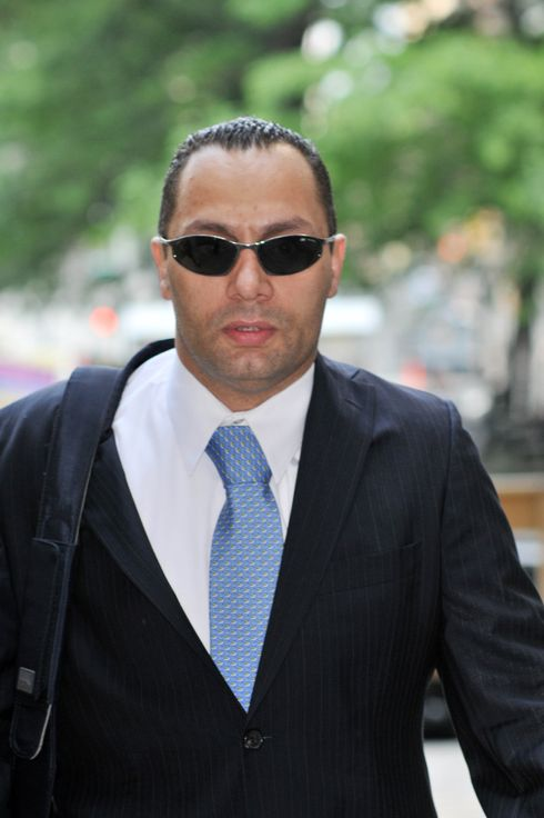 NYPD patrolman Franklin Mata arriving at court on the day he and his patrol partner Kenneth Moreno were acquitted of raping a woman while on-duty. They appeared at Manhattan Criminal Court and were both convicted of three counts of official misconduct.  <P> Pictured: Kenneth Moreno <P> <B>Ref: SPL282281  260511  </B><BR/> Picture by: J.B Nicholas / Splash News<BR/> </P><P> <B>Splash News and Pictures</B><BR/> Los Angeles:	310-821-2666<BR/> New York:	212-619-2666<BR/> London:	870-934-2666<BR/> photodesk@splashnews.com<BR/> </P>