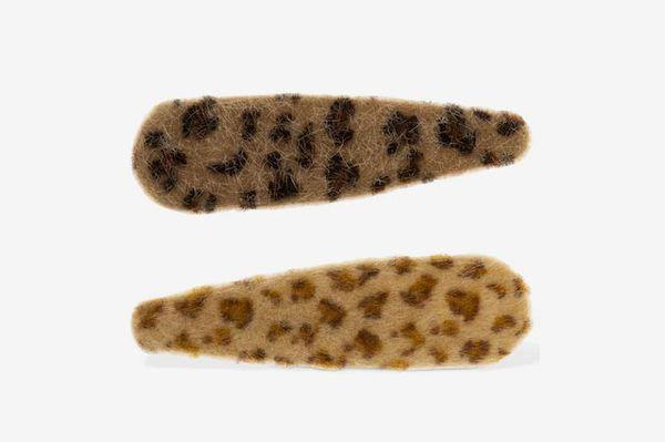 Valet Studio Lorelei Leopard Print Hair Clips