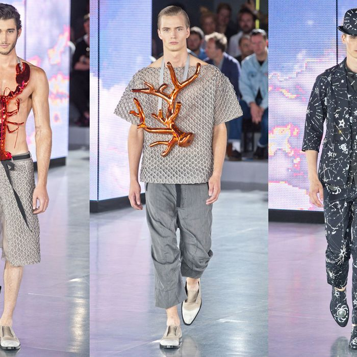 Looks from the spring 2013 John Galliano collection.