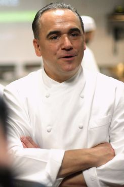 Chef Jean-Georges Vongerichten attends The New York Culinary Experience at The International Culinary Center on April 28, 2012 in New York City.