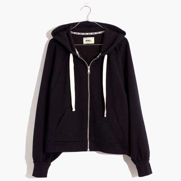 MWL Ribbed Cocoon Hoodie Sweatshirt