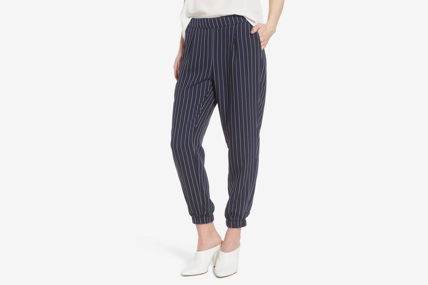 TROUVÉ Striped Jogger Pants