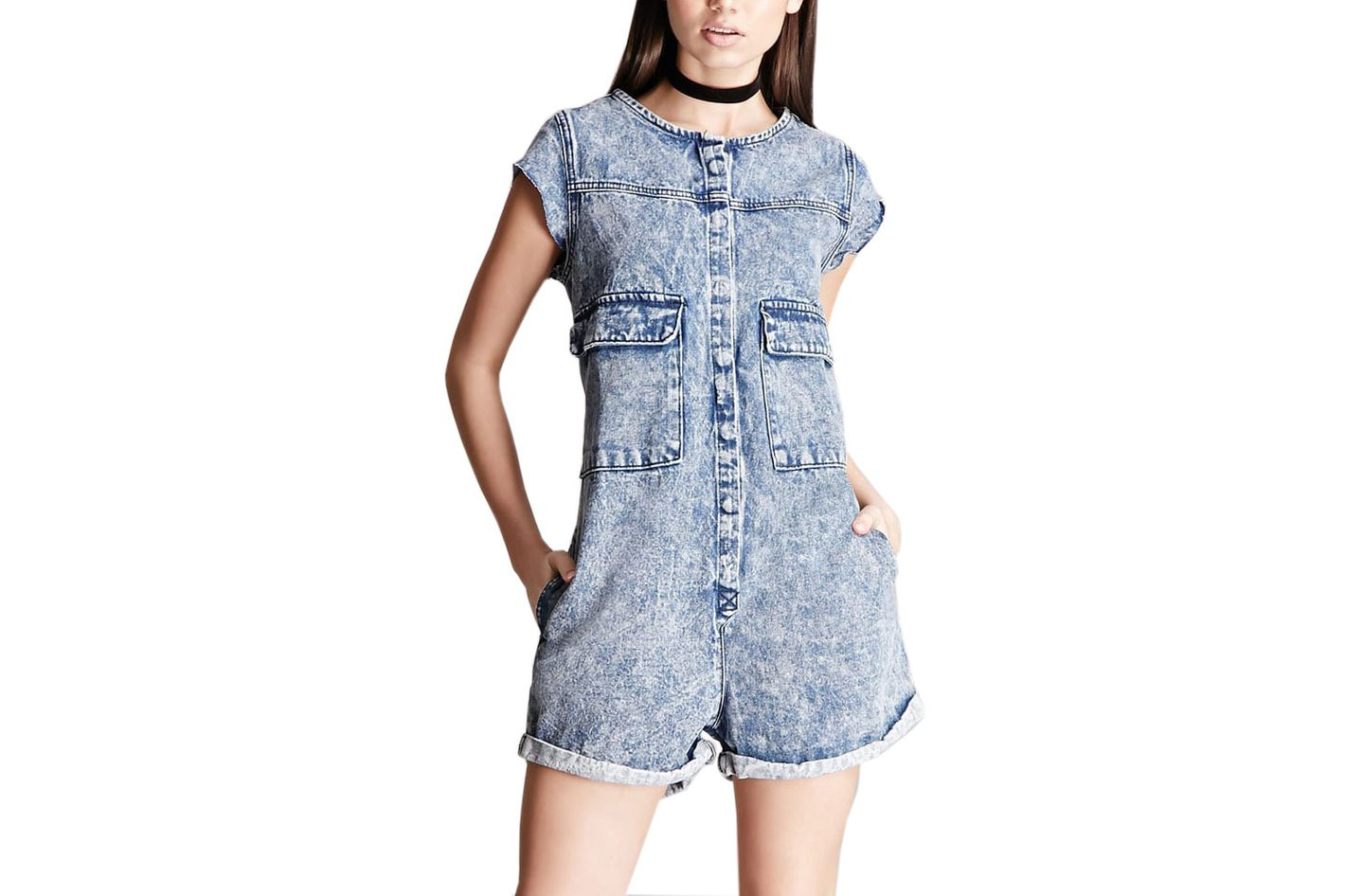 Pixie & Diamond Denim Romper