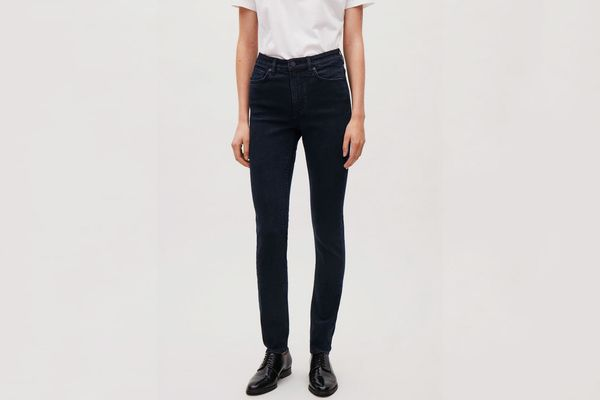 COS Skinny-Fit Cropped Jeans in Navy