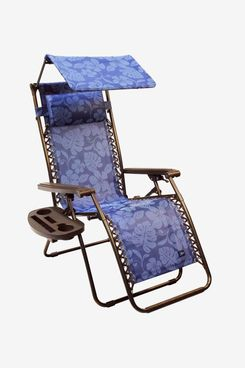 Bliss Hammocks Wide Zero Gravity Chair With Canopy, Pillow, and Drink Tray