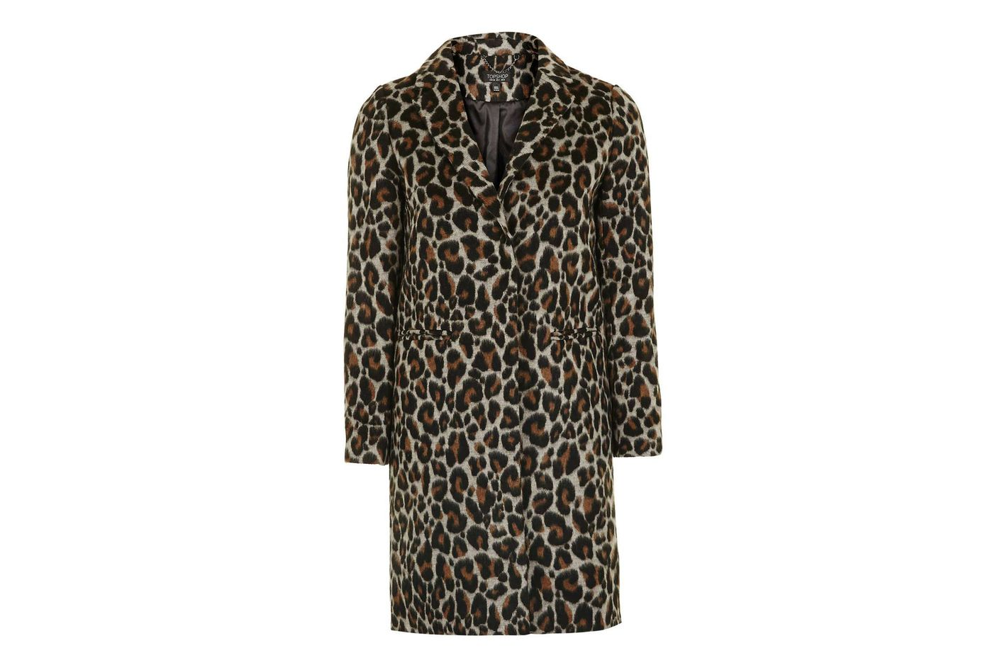 Top Shop Leopard Print Coat