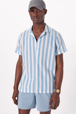 Abercrombie & Fitch Short-Sleeve Camp Collar Button-Up Shirt