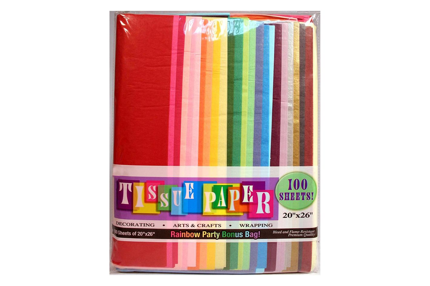 Creative Hobbies Rainbow Color Tissue Paper