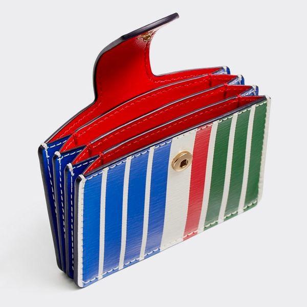 tory burch robinson stripe accordion wallet