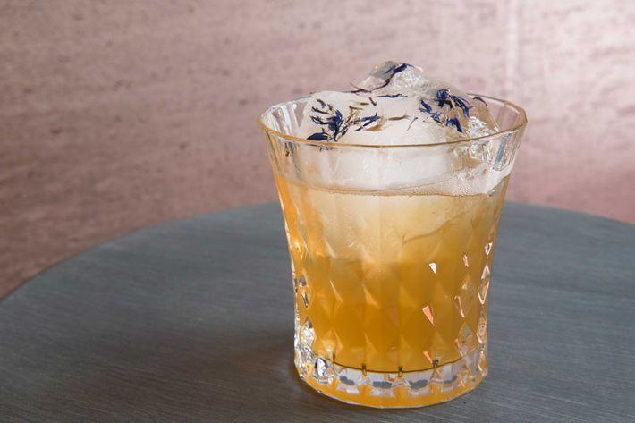 Via Maris Milk Punch: High West Silver Oat whiskey, Batavia arrack, pineapple, cinnamon, vanilla, and almond/Bergamot.
