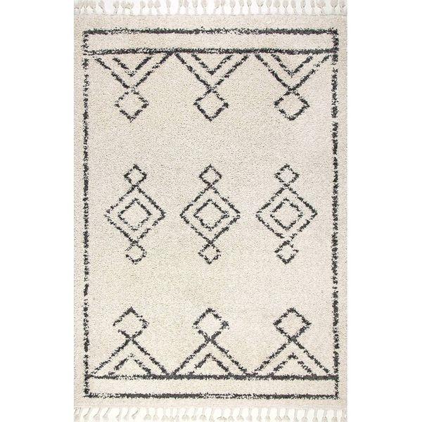 nuLOOM Mackie Moroccan Diamond Shag Rug, 5' 3