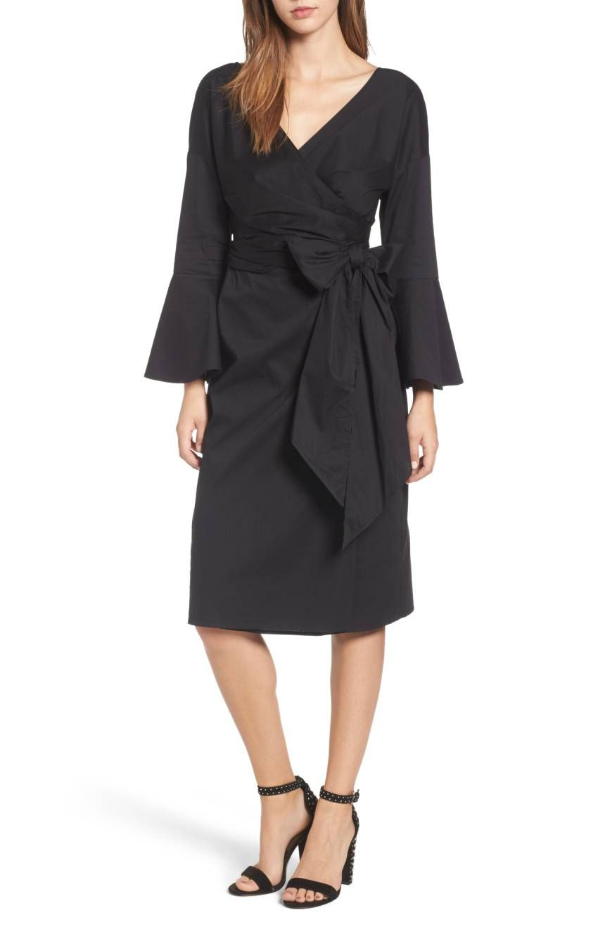 WAYF Bell Sleeve Dress