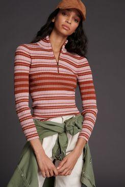 Maeve Liz Quarter-Zip Pullover