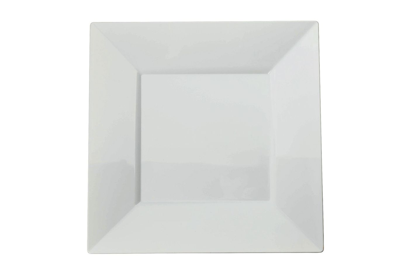 Exquisite 60-Pack Premium Disposable Plastic Plates, Heavyweight Square Plastic Plates
