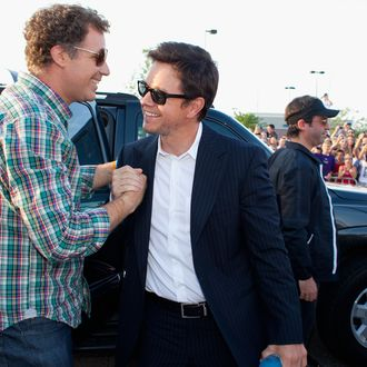 ST. LOUIS - AUGUST 5: Mark Wahlberg and Will Farrell arrive at the premiere of
