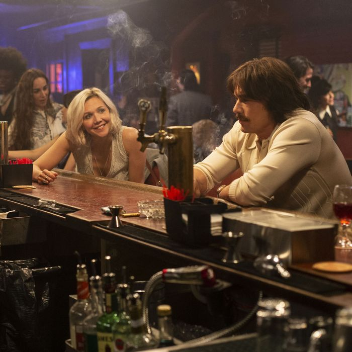 Margarita Levieva, Maggie Gyllenhaal, and James Franco on The Deuce.