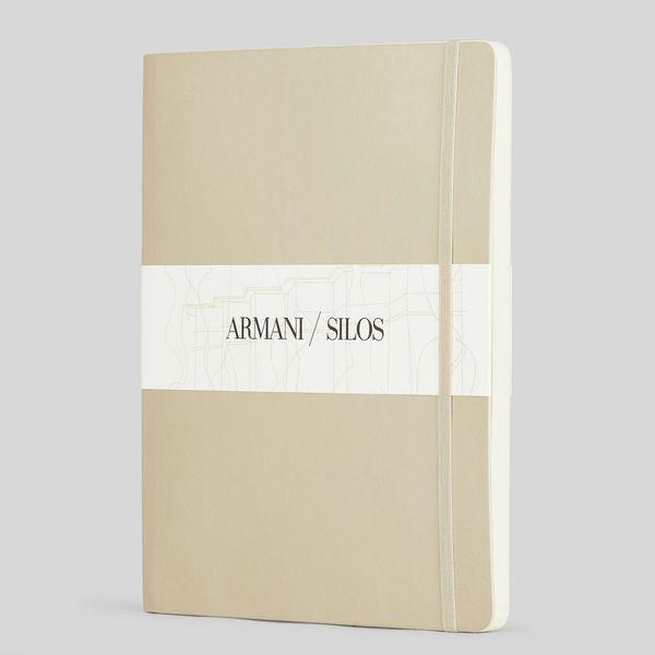 Armani Large Notebook with Dot-Grid Pages and Hard Cover