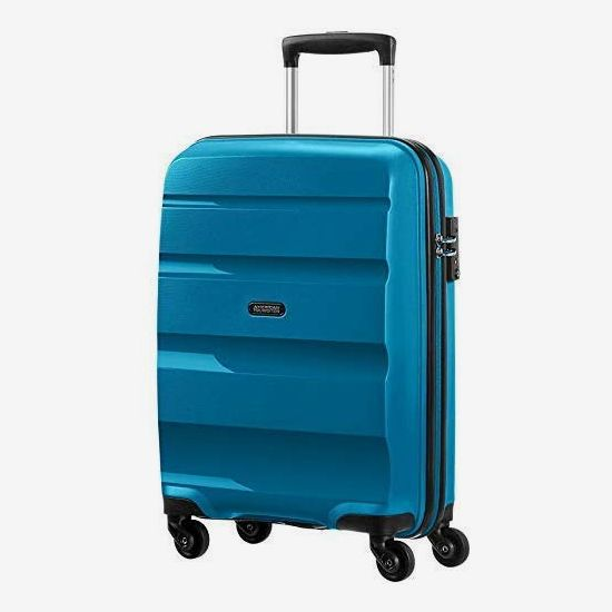 American Tourister Bon Air Spinner Hand Luggage 55 cm, 32 L, Blue (Seaport Blue)
