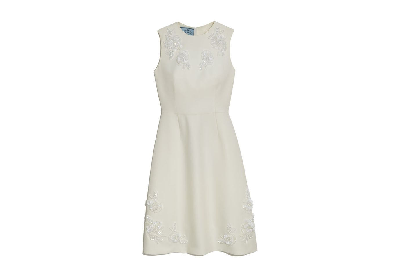 Prada Tubino Embroidered Sheath Dress