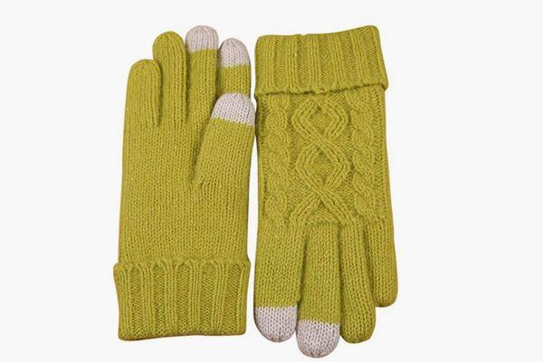 ELMA Touchscreen Wool Knit Fleece-Lined Winter Gloves
