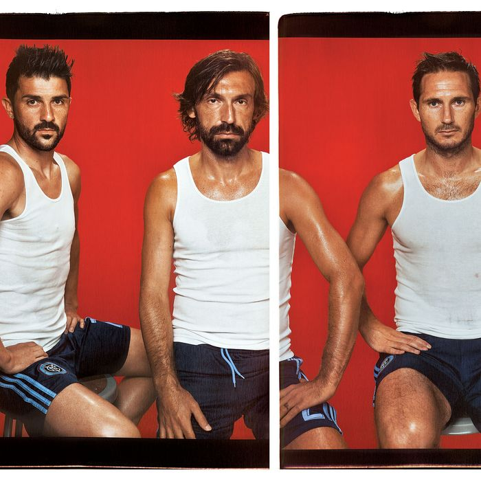 NYCFC's David Villa, Andrea Pirlo, and Frank Lampard.