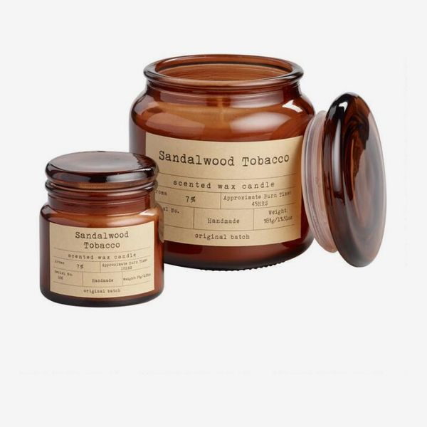 World Market Sandalwood and Tobacco Filled Apothecary-Jar Candle