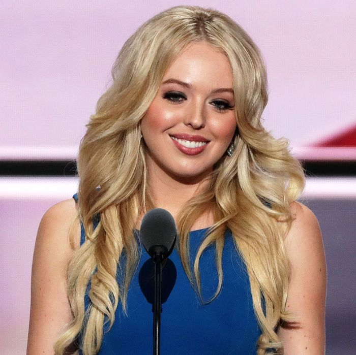 Tiffany Trump delivers a speech at the Republican National Convention.