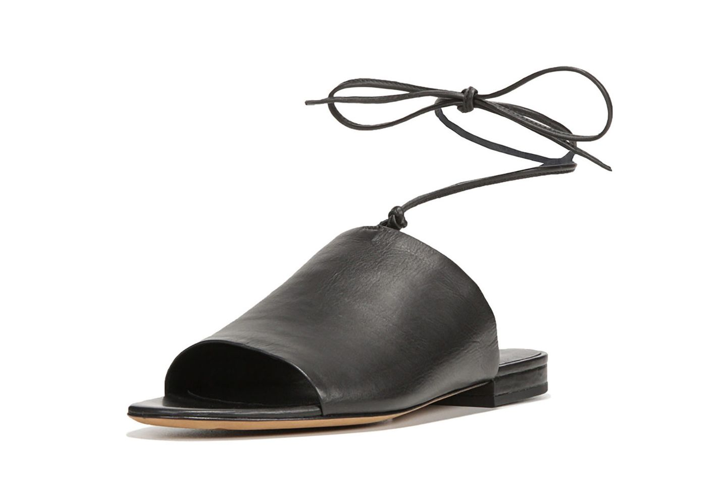 Vince Damon Leather Ankle-Tie Mule