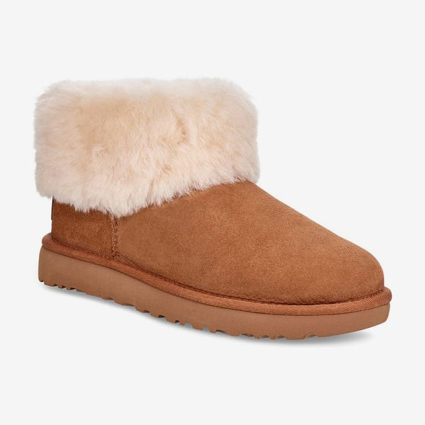 ugg classic mini fluff genuine shearling bootie - strategist nordstrom half yearly sale best deals