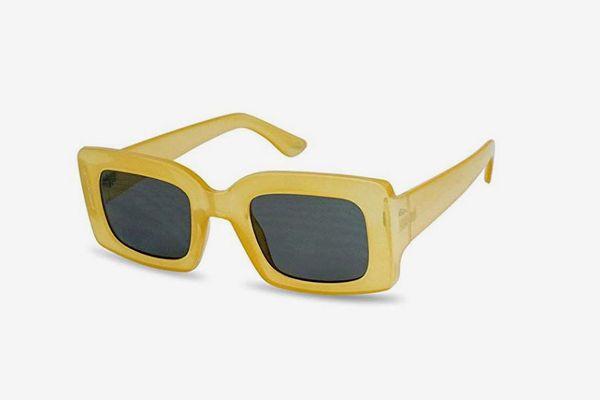 SunglassUP Chunky 1970s Vintage Boxed Square Sunglasses