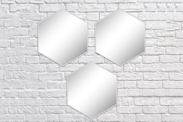 Better Homes and Gardens 3-Piece Honeycomb Mirror Set, White