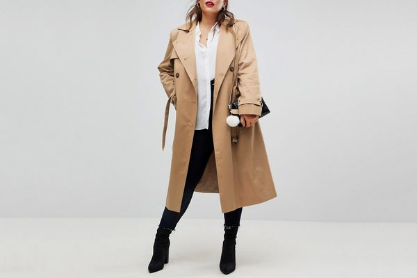 ASOS CURVE Longline Classic Trench