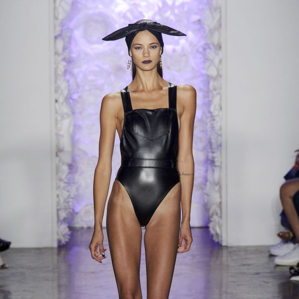 Cushnie et Ochs leather bathing suit