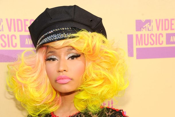 LOS ANGELES, CA - SEPTEMBER 06:  Nicki Minaj arrives at the 2012 MTV Video Music Awards at Staples Center on September 6, 2012 in Los Angeles, California.  (Photo by Kevin Mazur/WireImage)