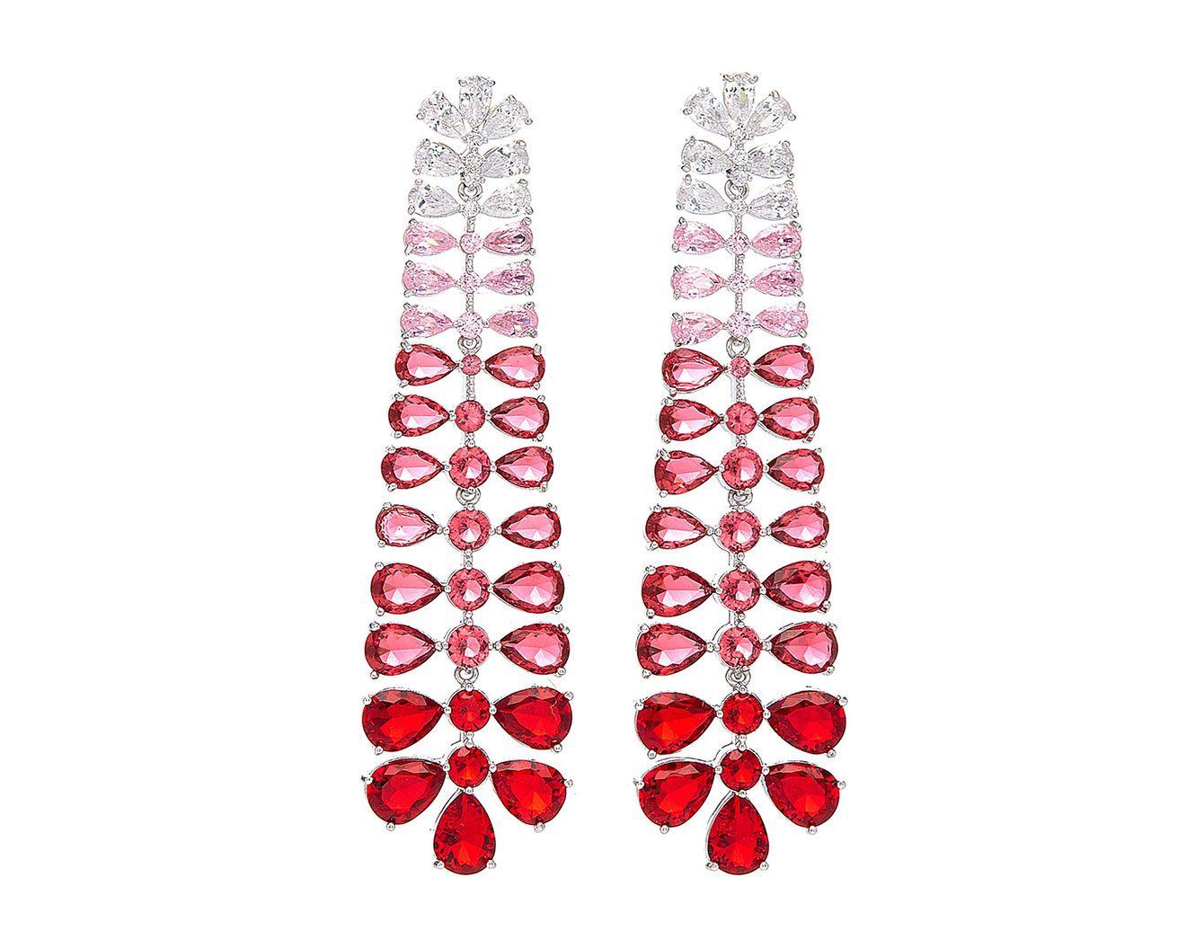 Fallon Vertebrae Silver-Tone Ombre Chandelier Earrings