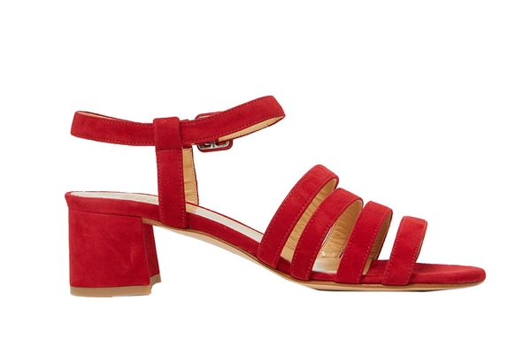 Maryam Nassir Zadeh Palma Low Sandal in Cherry Suede