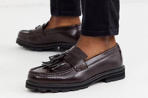 Ben Sherman Wide Fit Chunky Loafer in Bordeaux